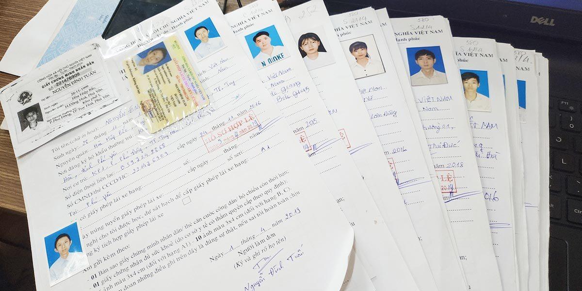 Hồ sơ thi bằng lái ô tô B2